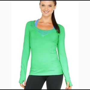 Green Lorna Jane Sofia Excel Long Sleeve Top, M
